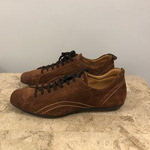 Gianfranco ferre italian leather loafers sneakers